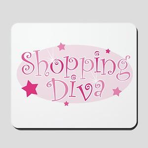 """Shopping Diva"" [pink] Mousepad"